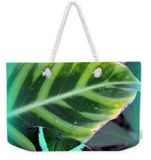 Jade Butterfly With Vignette Weekender Tote Bag