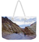 Jagged Edges On Canyon Walls In Golden Canyon Trail In Death Valley National Park-california  Weekender Tote Bag