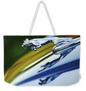 Jaguar Car Hood Ornament Weekender Tote Bag