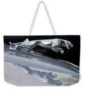 Jaguar Car Hood Ornament Reflection Weekender Tote Bag