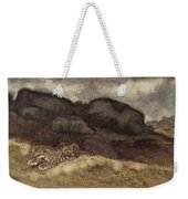 Jaguar Devouring Its Prey Weekender Tote Bag by Antoine Louis Barye