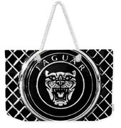 Jaguar Grille Emblem -0317bw Weekender Tote Bag