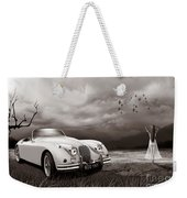 Jaguar Xk150 - Admiring The View Weekender Tote Bag