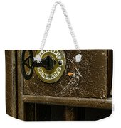Jail Cell Door Lock  And Key Close Up Weekender Tote Bag
