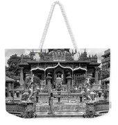 Jain Temple Monochrome Weekender Tote Bag