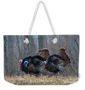 Jake Eastern Wild Turkeys Weekender Tote Bag by Linda Freshwaters Arndt
