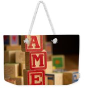 James - Alphabet Blocks Weekender Tote Bag
