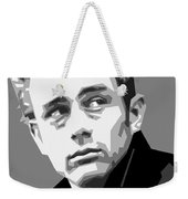 James Dean In Black And White Weekender Tote Bag