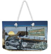James Dean Mural In Tucumcari On Route 66 Weekender Tote Bag by Carol Leigh