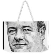 James Gandolfini In 2007 Weekender Tote Bag