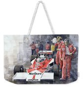 James Hunt Monaco Gp 1977 Mclaren M23 Weekender Tote Bag