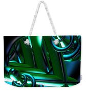 Jammer Blue Green Flux 001 Weekender Tote Bag