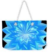 jammer Blue Shimmer Lotus Weekender Tote Bag
