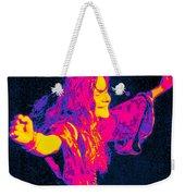 Janis Joplin Psychedelic Fresno 2 Weekender Tote Bag by Joann Vitali