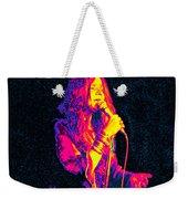 Janis Joplin Psychedelic Fresno  Weekender Tote Bag by Joann Vitali