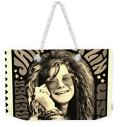 Janis Stamp In A Sepia Vibe Weekender Tote Bag
