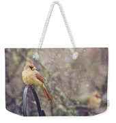 January Cardinals Weekender Tote Bag