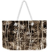 Japanese Bamboo Sepia Grunge Weekender Tote Bag