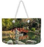 Japanese Bridge Over Water Weekender Tote Bag