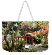Japanese Garden Bridge With Rhododendrons Weekender Tote Bag