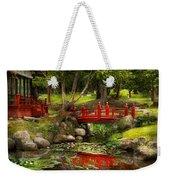 Japanese Garden - Meditation Weekender Tote Bag by Mike Savad