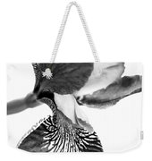 Japanese Iris Flower Monochrome Weekender Tote Bag