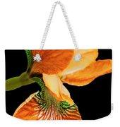 Japanese Iris Orange Black Weekender Tote Bag