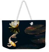 Japanese Koi Fish And Water Lily Flower Weekender Tote Bag