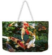 Japanese Koi Fish Pond Weekender Tote Bag by Jennie Marie Schell