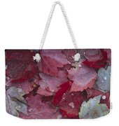 Japanese Maple Leaves With Frost Weekender Tote Bag