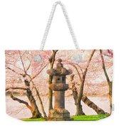 Japanese Stone Lantern Weekender Tote Bag