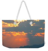 Japanese Zero Fighter Plane Taking Off At Sunset Weekender Tote Bag