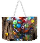Jar Of Marbles With Shooter Weekender Tote Bag by Garry Gay