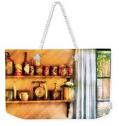 Jars - Kitchen Shelves Weekender Tote Bag by Mike Savad