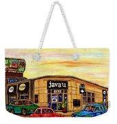 Java U Cafe Jean Talon Car Wash Coffee Shop Depanneur Montreal Art Sale Cspandau                     Weekender Tote Bag