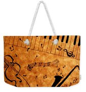 Jazz Music Coffee Painting Weekender Tote Bag