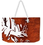 Jazz Saxofon Player Coffee Painting Weekender Tote Bag