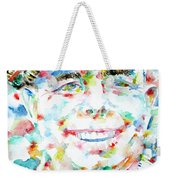 Jean Renoir Watercolor Portrait Weekender Tote Bag