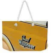 Jeep Grand Wagoneer Side Emblem Weekender Tote Bag