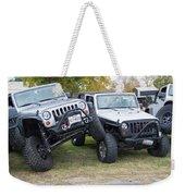 Jeeps In Juxtaposition Weekender Tote Bag
