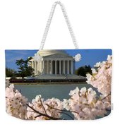 Jefferson Memorial Cherry Trees Weekender Tote Bag