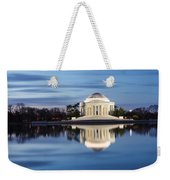 Washington Dc Jefferson Memorial In Blue Hour Weekender Tote Bag