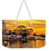 Jefferson Memorial Sunset Weekender Tote Bag