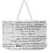 Jefferson: Tombstone Weekender Tote Bag