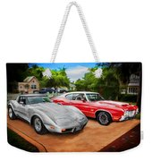 Jeffs Cars Corvette And 442 Olds Weekender Tote Bag