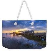 Jekyll Island Sunset Weekender Tote Bag by Debra and Dave Vanderlaan