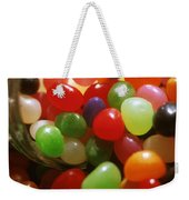 Jelly Beans Spilling Out Of Glass Jar Weekender Tote Bag