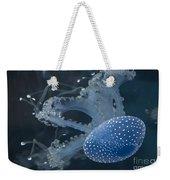 Jellyfish In Blue Weekender Tote Bag