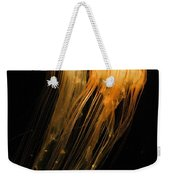 Jellyfish On Black Weekender Tote Bag