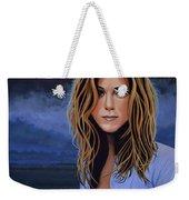 Jennifer Aniston Painting Weekender Tote Bag by Paul Meijering